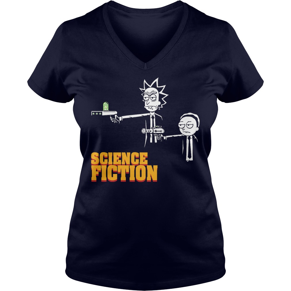 Science Fiction Rick Morty Pulp Fiction V Neck
