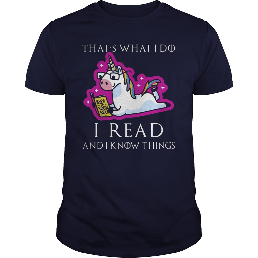 Unicorn Thats Read Know Things Guy Shirt