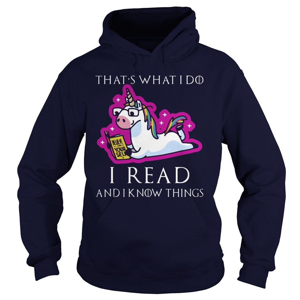 Unicorn Thats Read Know Things Hoodie