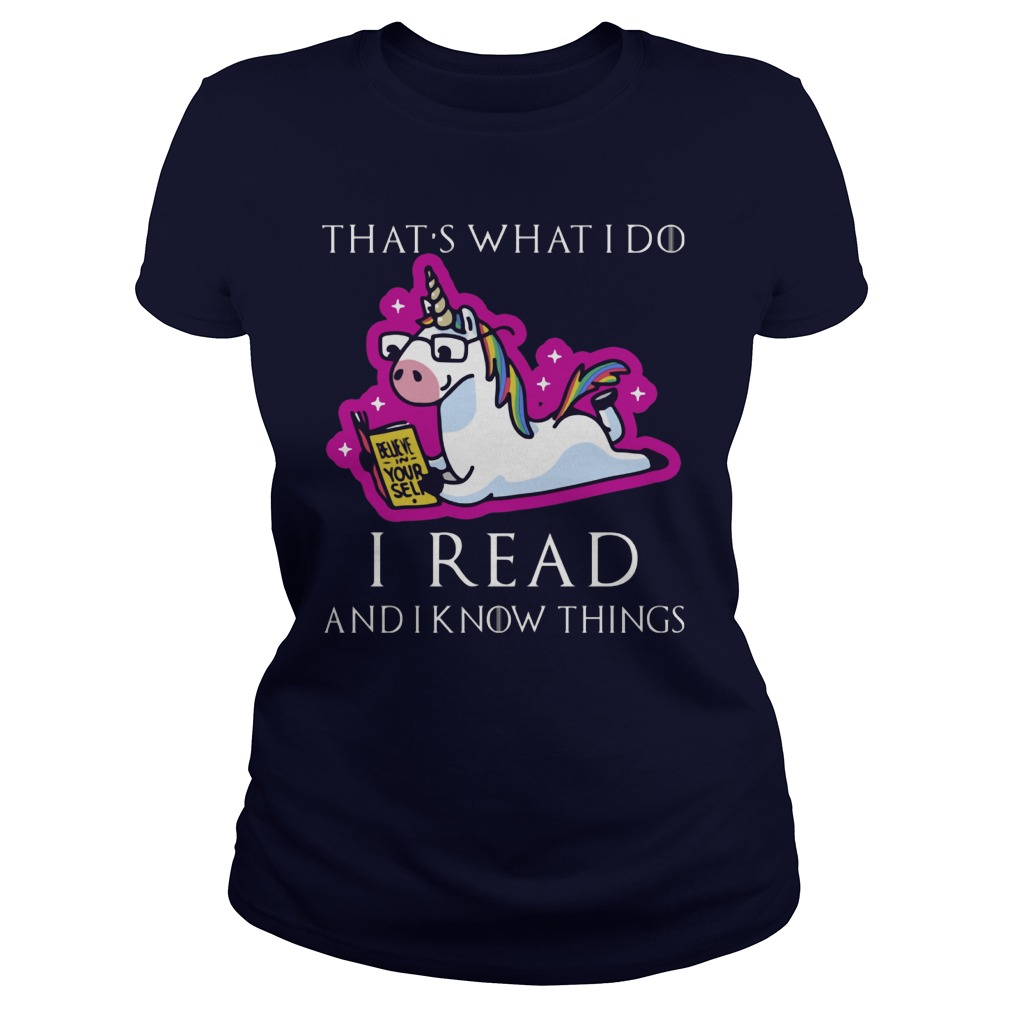 Unicorn Thats Read Know Things Ladies