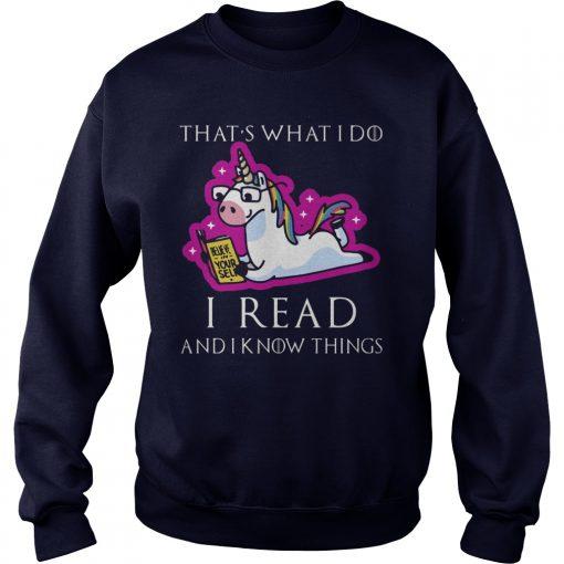 Unicorn Thats Read Know Things Sweat Shirt