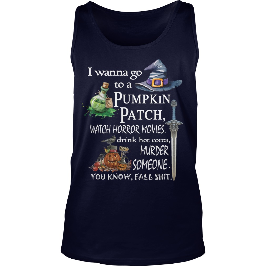 Wanna Go Pumpkin Patch Tank Top