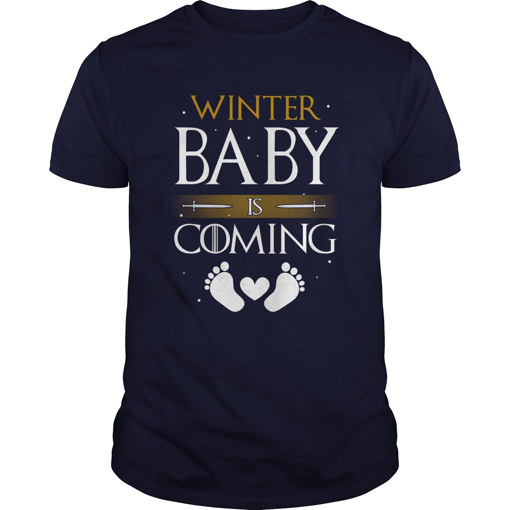 Winter Baby Coming Guy Tee