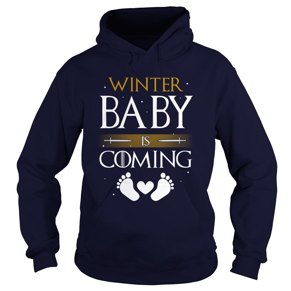 Winter Baby Coming Hoodie