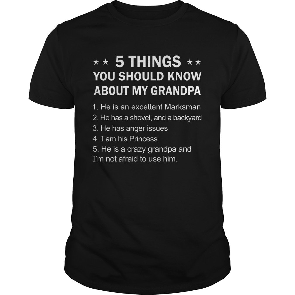 5 Things You Should Know My Grandpa Guys Tee