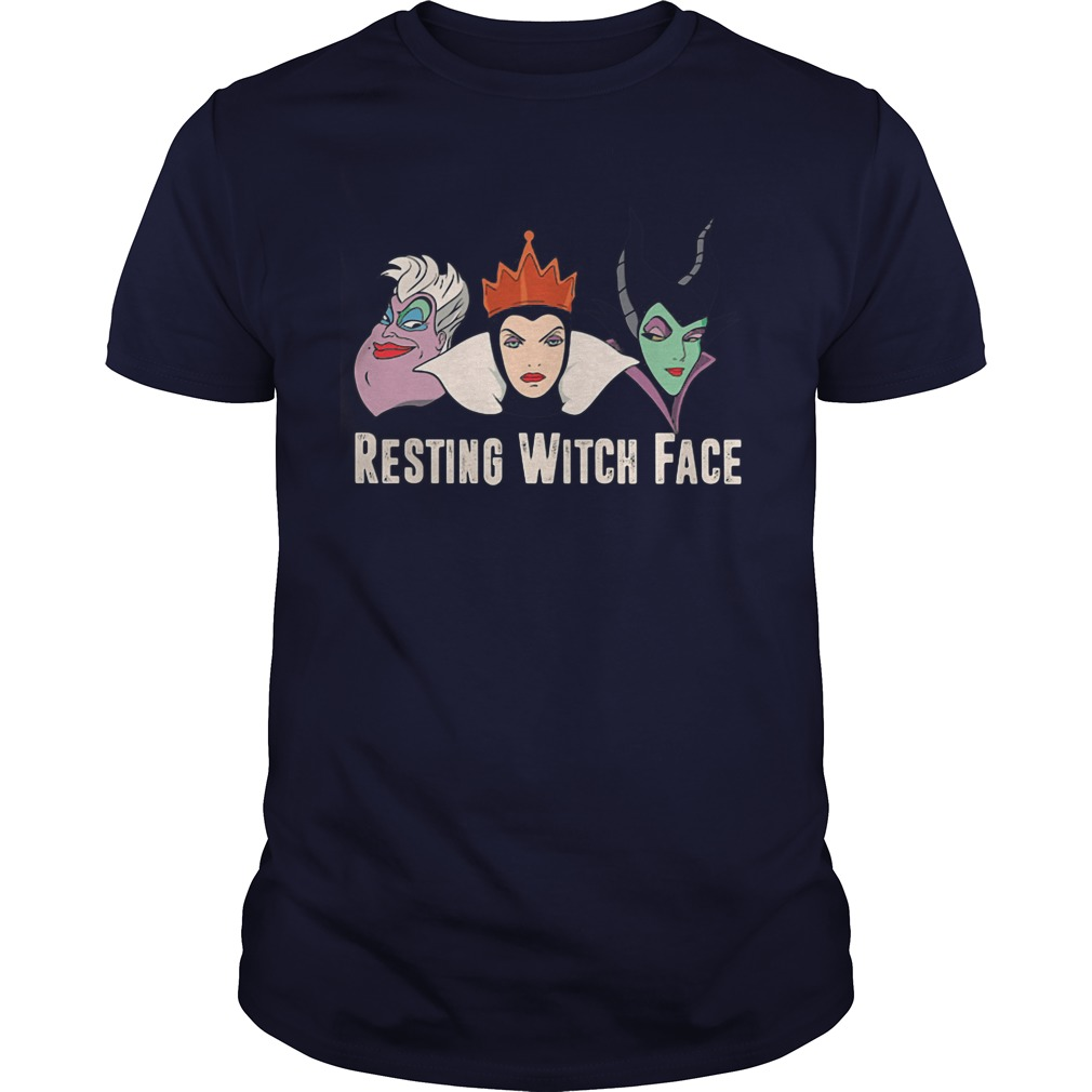 Disney Witches Ursula, Grimhilde Maleficent Resting Witch Face Guys Tee