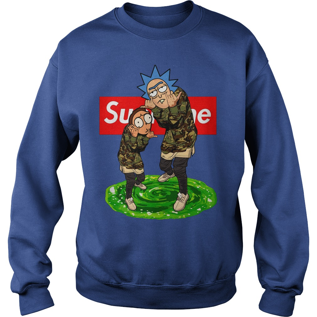Rick and Morty Supreme hoodie, sweater, long sleeve t-shirt