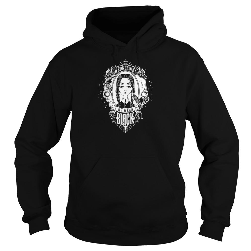 Addams Family Wednesdays Wear Black Hoodie