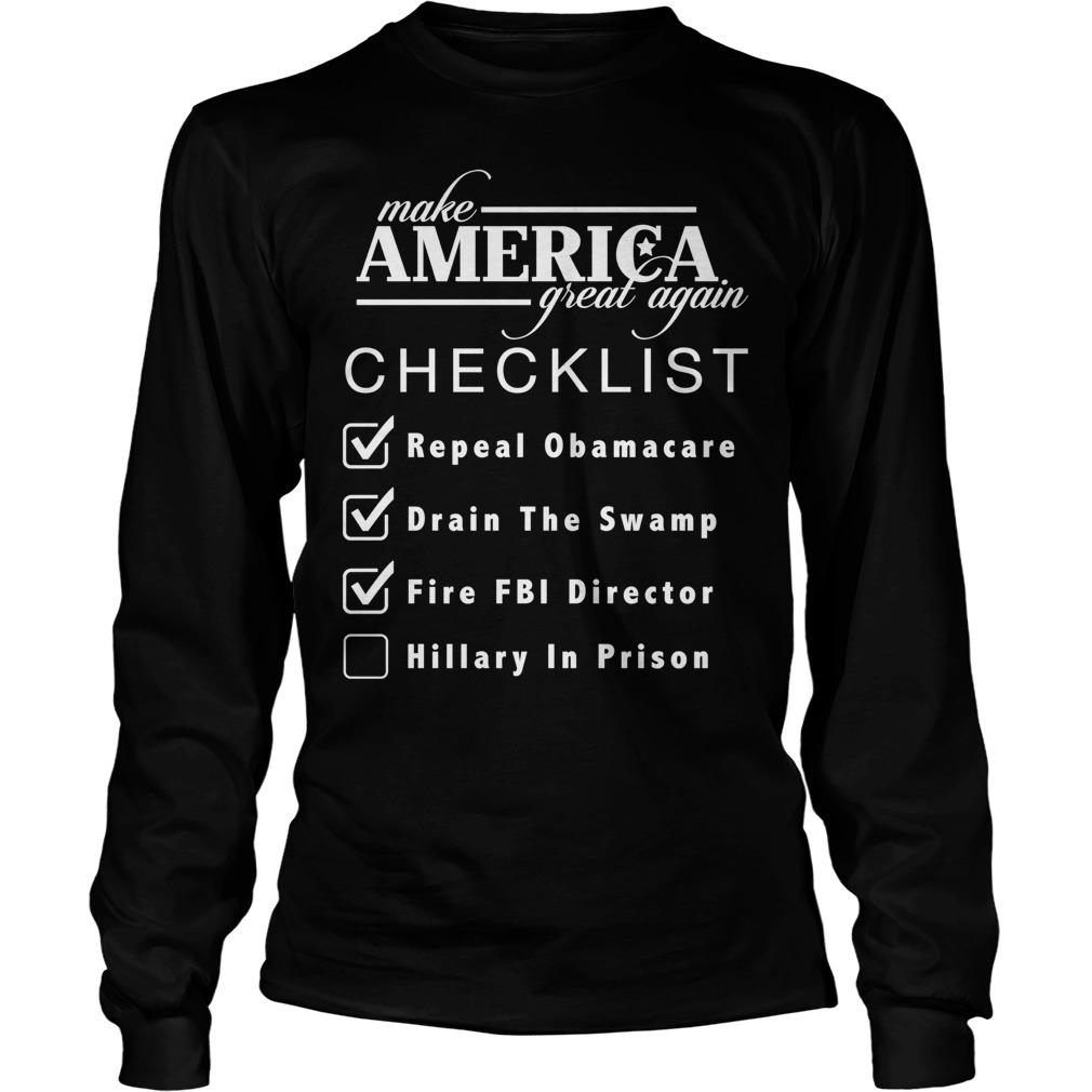 Checklist Make America Great Longsleeve