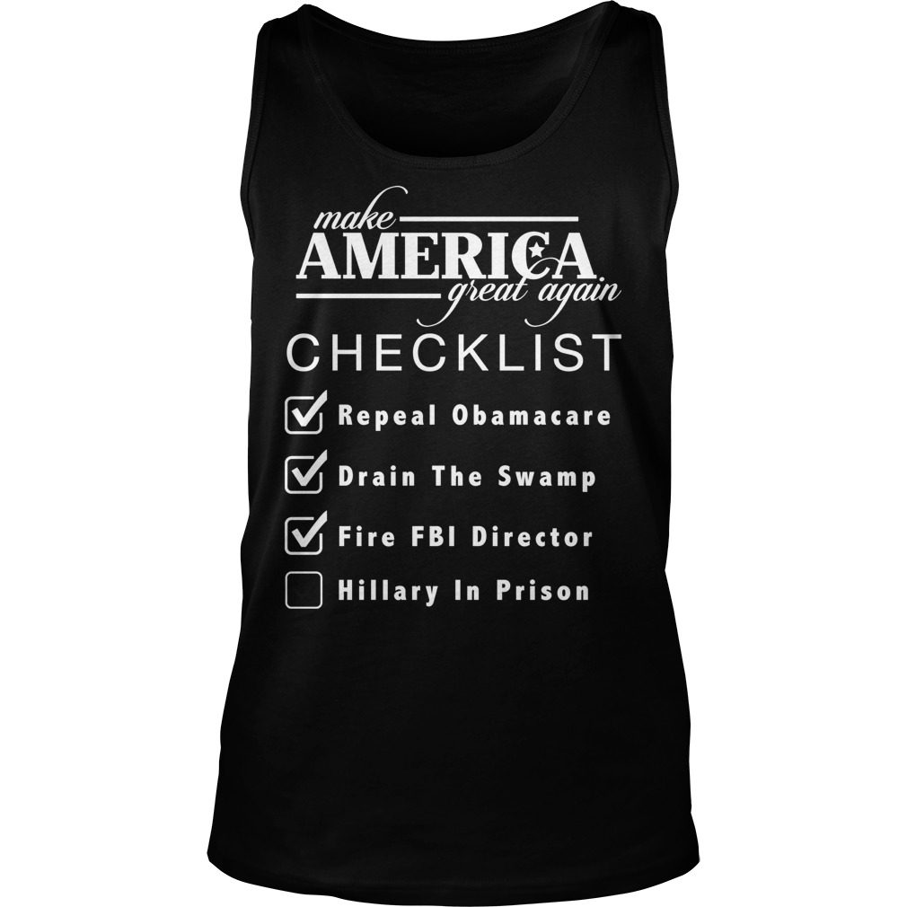 Checklist Make America Great Tank Top