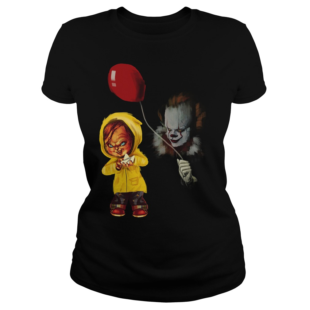 Chucky Pennywise Halloween Ladies Tee