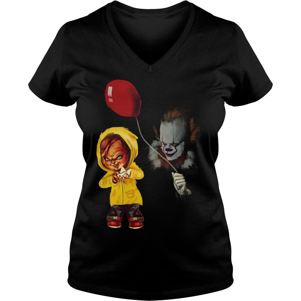 Chucky Pennywise Halloween Ladies V Neck