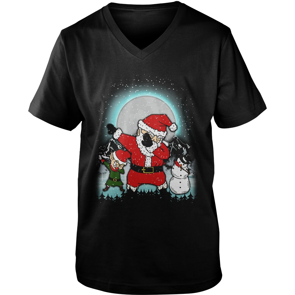Dabbing Santa Christmas Guys V Neck