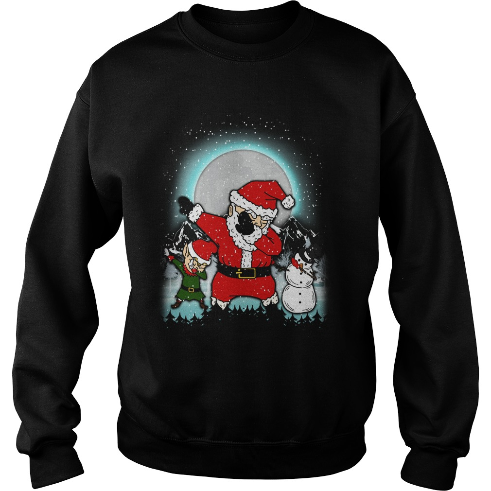 Dabbing Santa Christmas Sweat Shirt