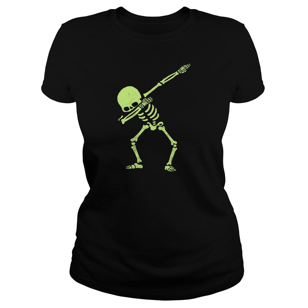 Dabbing Skeleton Ladies Tee