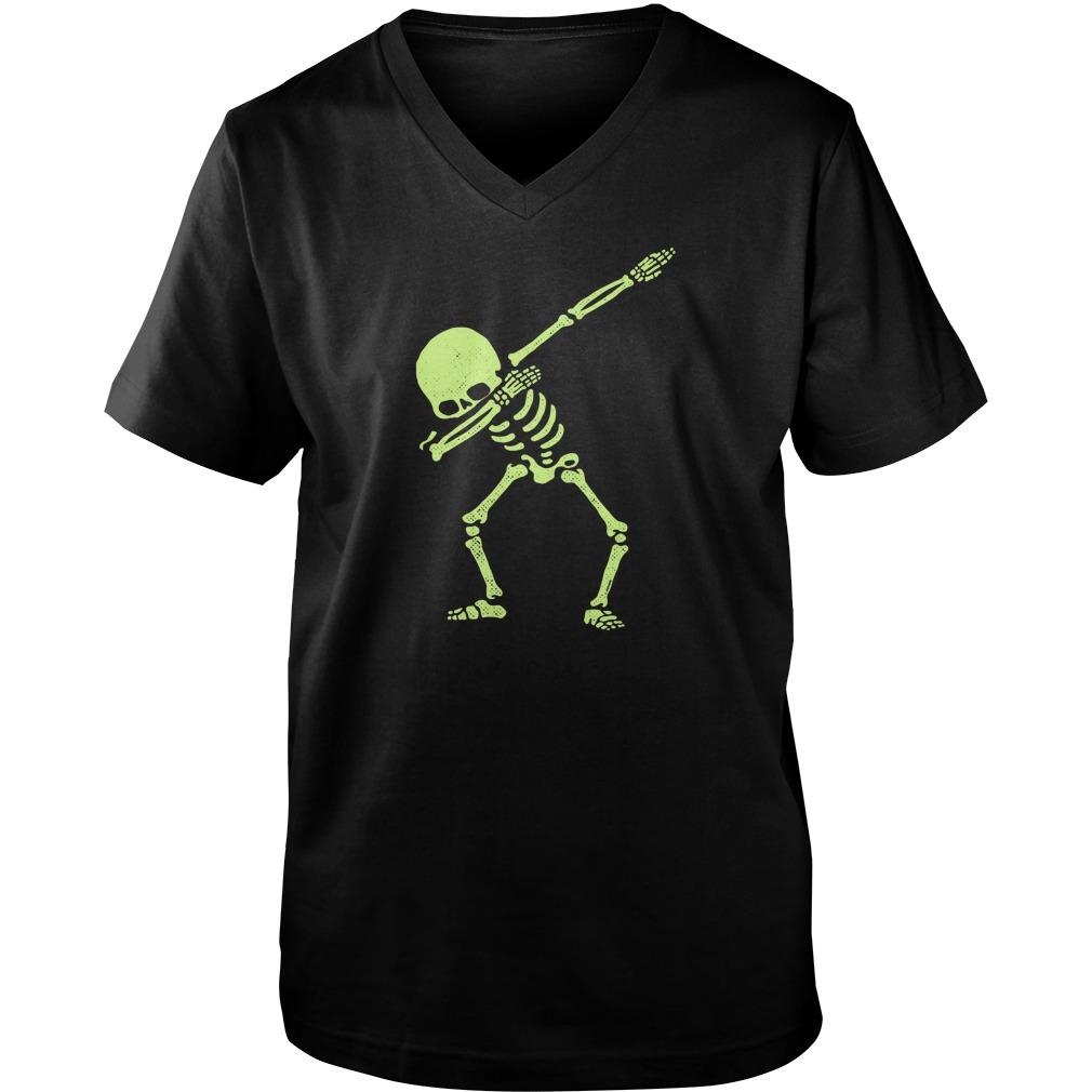 Dabbing Skeleton V Neck