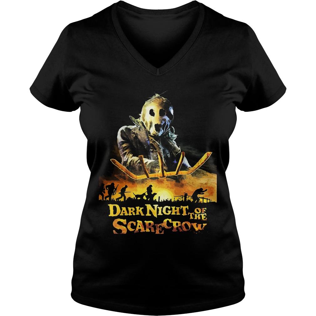 Dark Night Scarecrow Ladies V Neck
