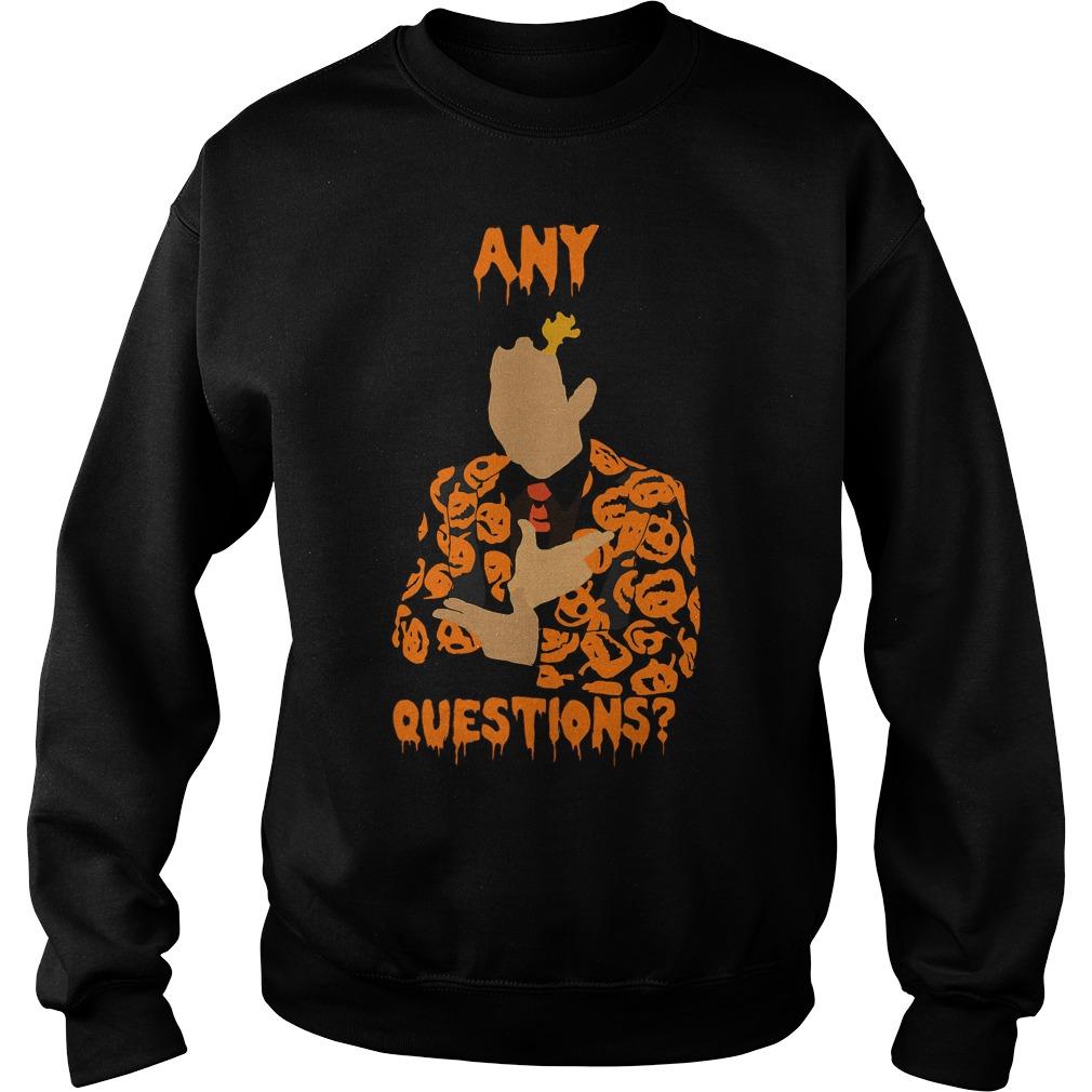 David Pumpkins Snl Question Sweat Shirt