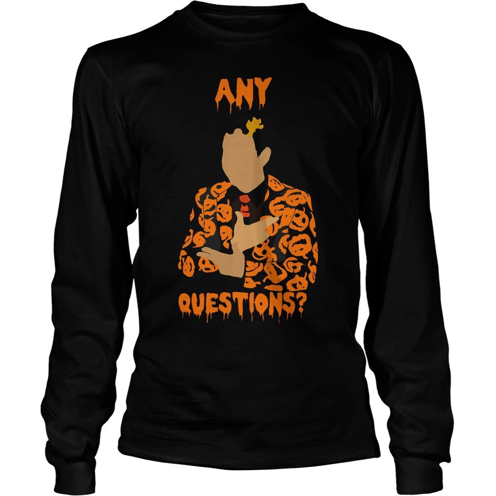 David Pumpkins Snl Question Unisex Longsleeve Tee