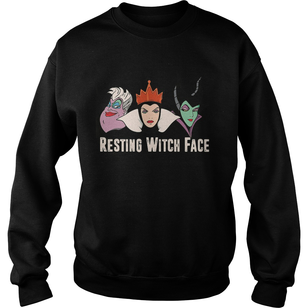 Disney Witches Ursula Grimhilde Maleficent Resting Witch Face Sweat Shirt