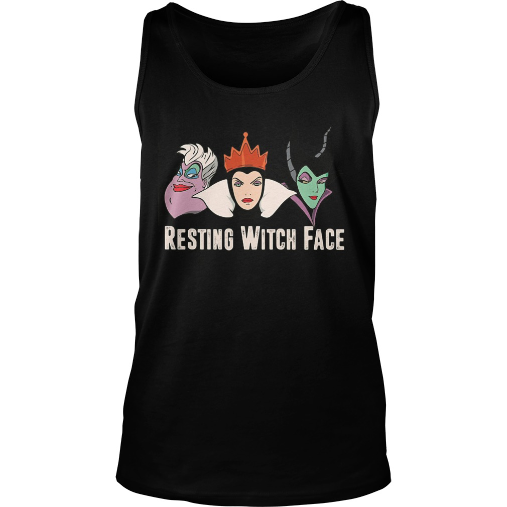 Disney Witches Ursula Grimhilde Maleficent Resting Witch Face Unisex Tank Top