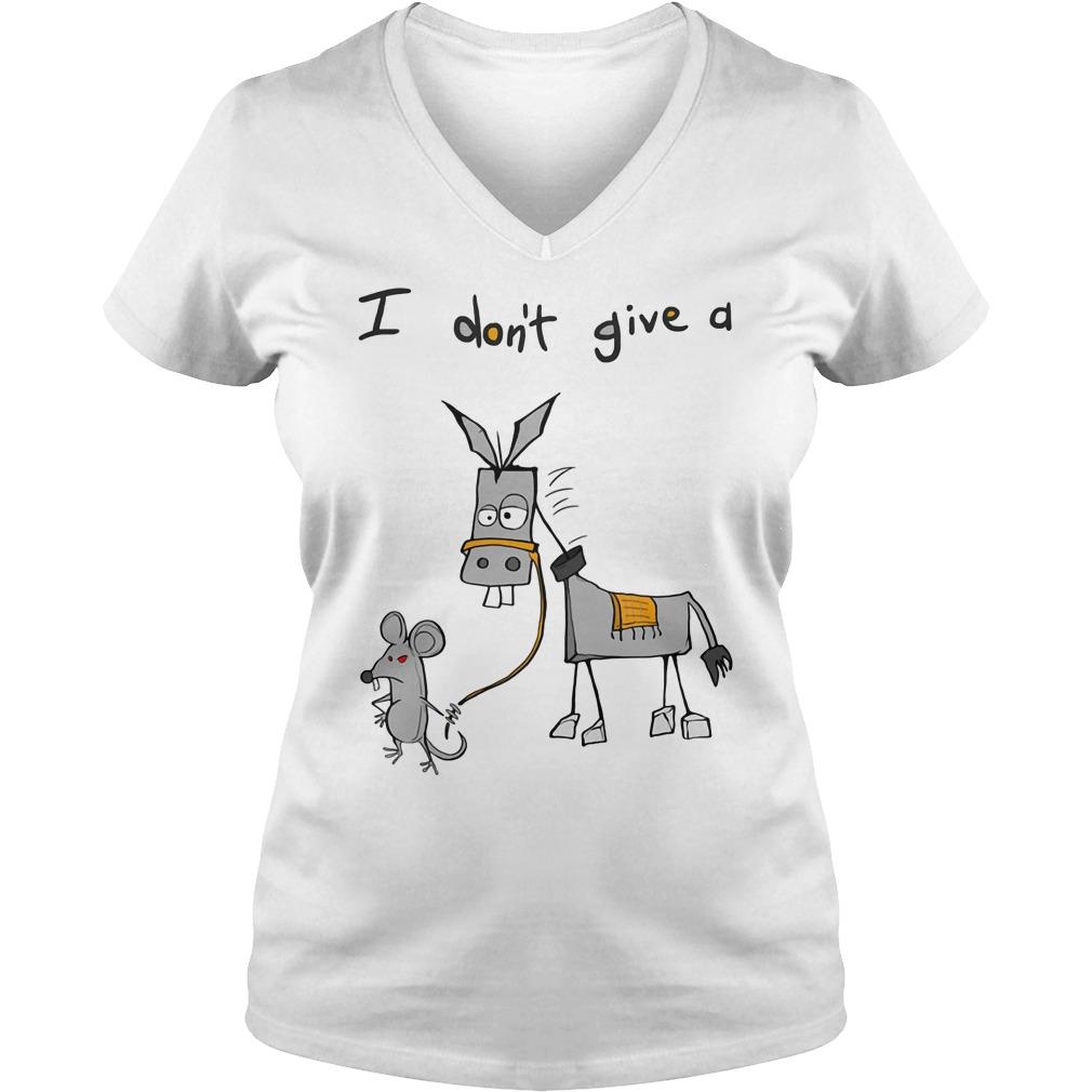 Dont Give Donkey Ladies V Neck
