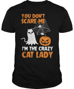 Dont Scare Im Crazy Cat Lady Guys Tee
