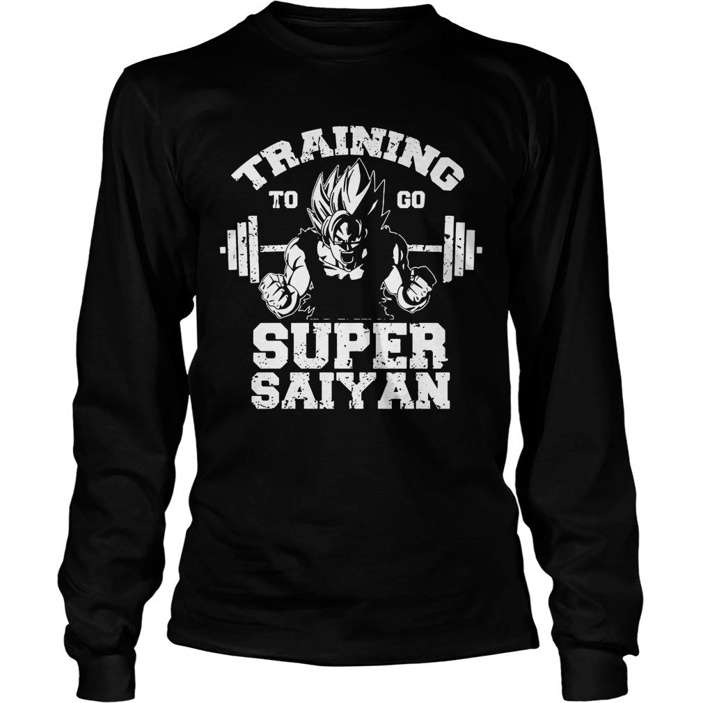 Dragon Ball Z Workout Training Go Super Saiyan Longsleeve
