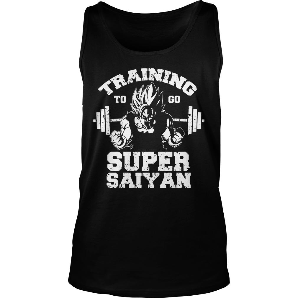 Dragon Ball Z Workout Training Go Super Saiyan Tank Top