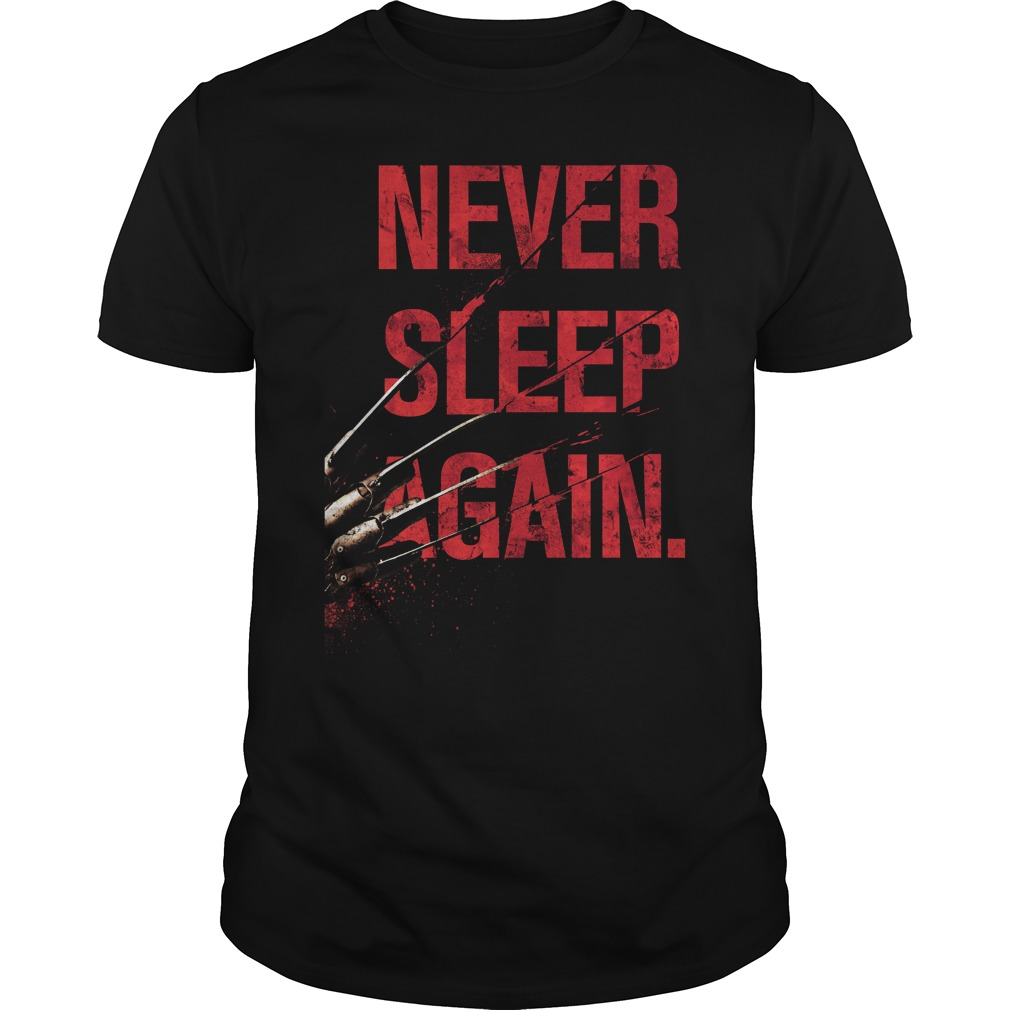 Freddy Krueger Never Sleep Again Guys Tee