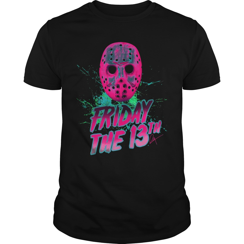 Friday The 13th Man Neon Guys Tee