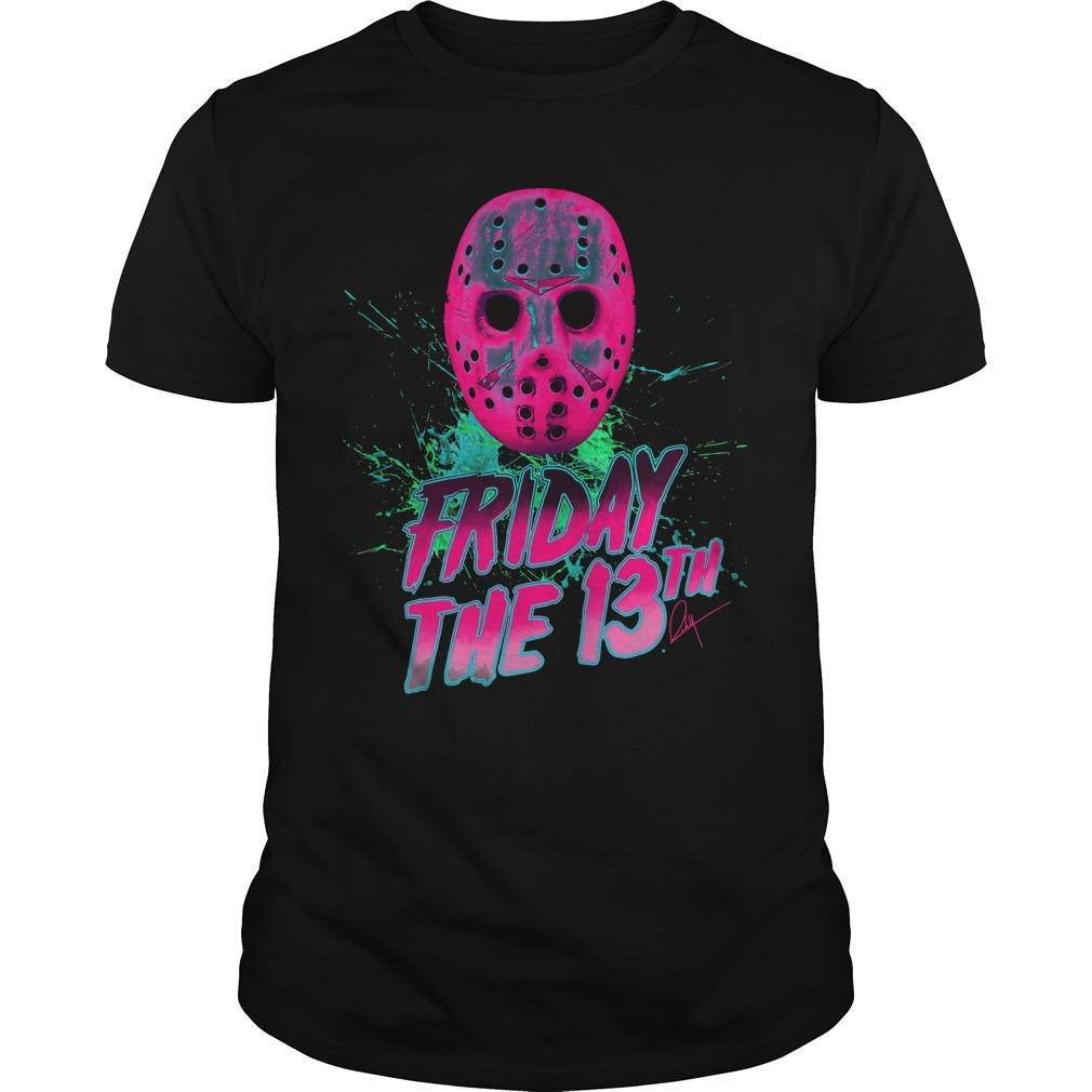 Friday The 13th Man Neon Guys Tee