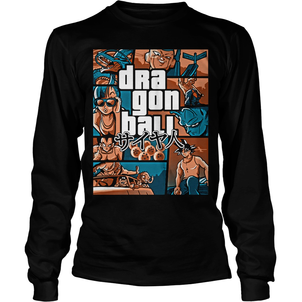 Grand Theft Auto Vice City Dragon Ball Gta Unisex Longsleeve Tee