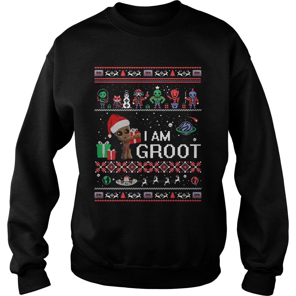 Guardians Of The Galaxy I Am Groot Ugly Christmas Sweat Shirt
