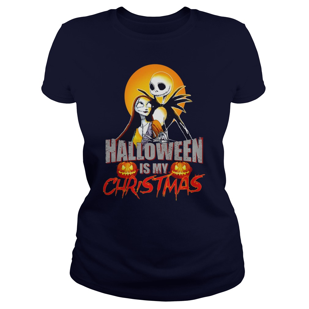 Halloween Christmas Ladies Tee