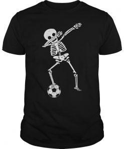 Halloween Dabbing Skeleton Soccer Guys Tee