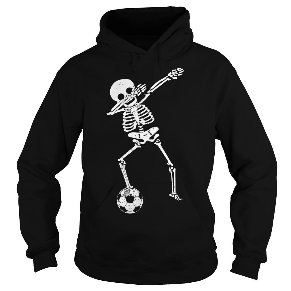 Halloween Dabbing Skeleton Soccer Hoodie