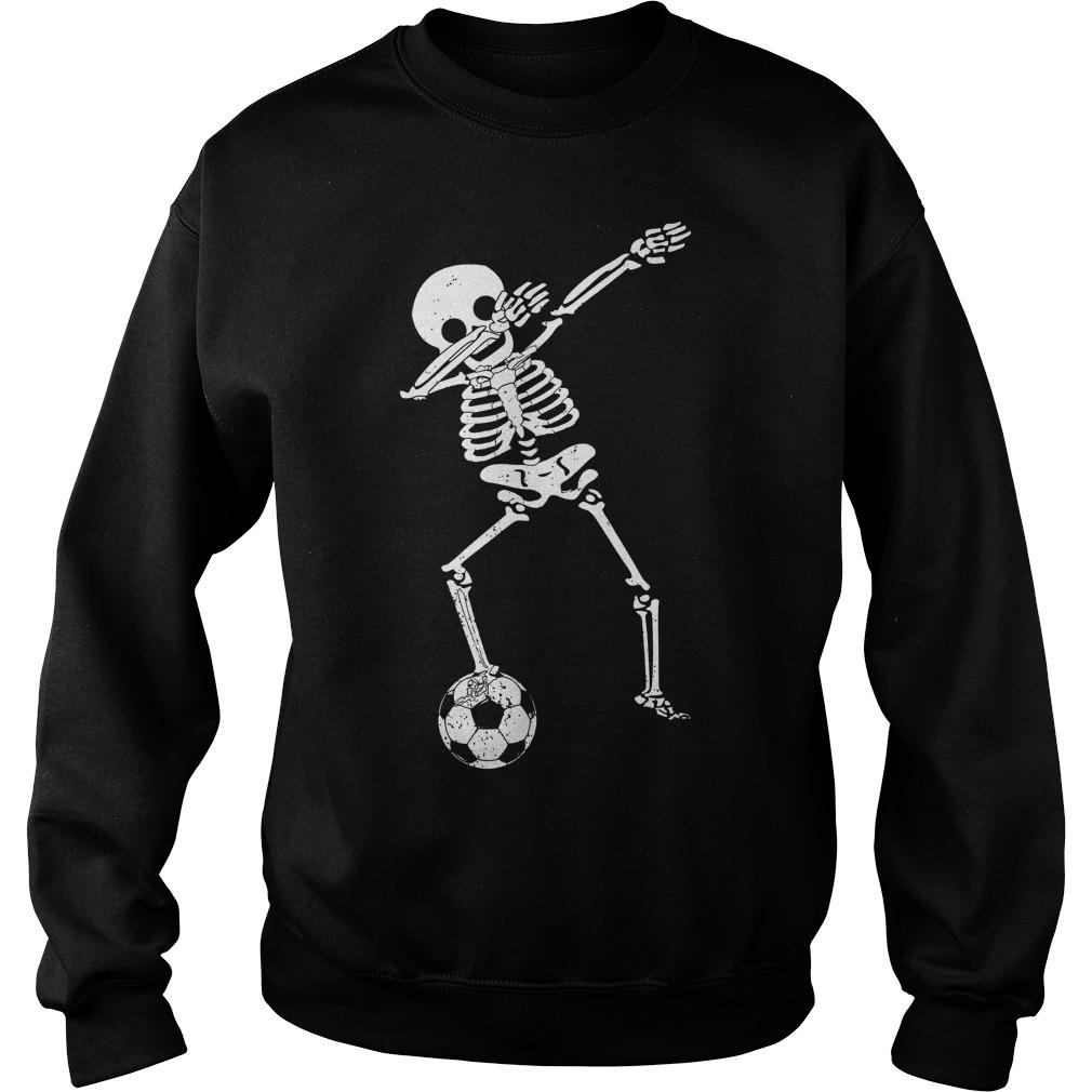 Halloween Dabbing Skeleton Soccer Sweat Shirt