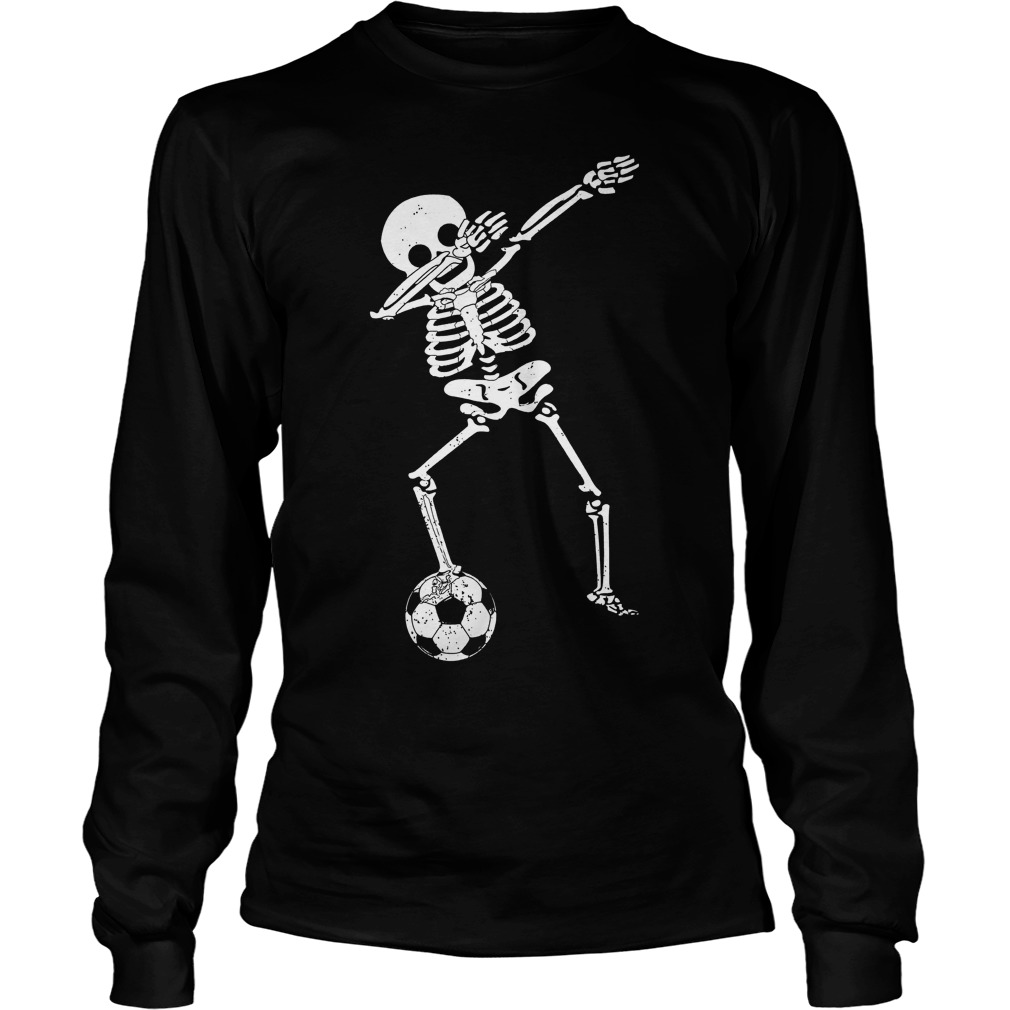 Halloween Dabbing Skeleton Soccer Unisex Longsleeve Tee