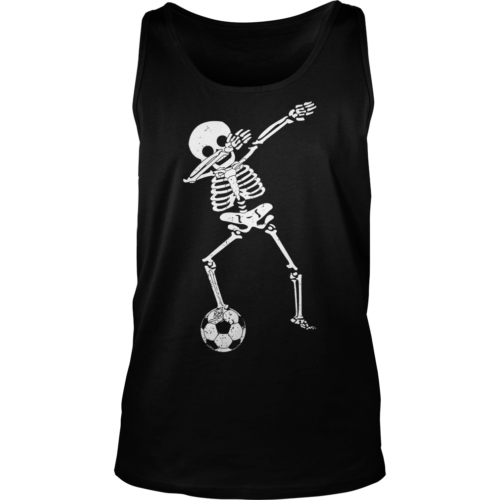 Halloween Dabbing Skeleton Soccer Unisex Tank Top