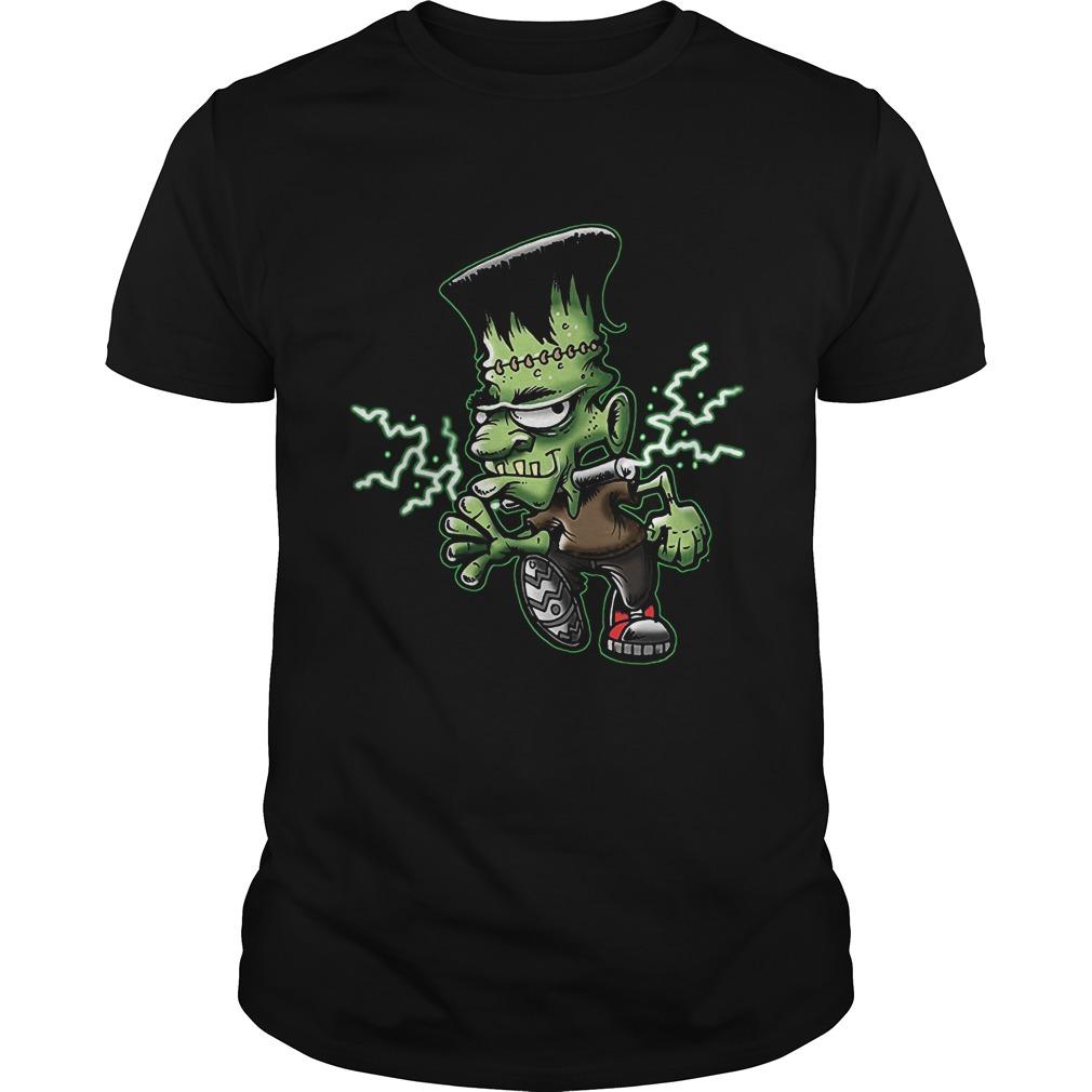 Halloween Frankie Monster Cartoon Guys Tee