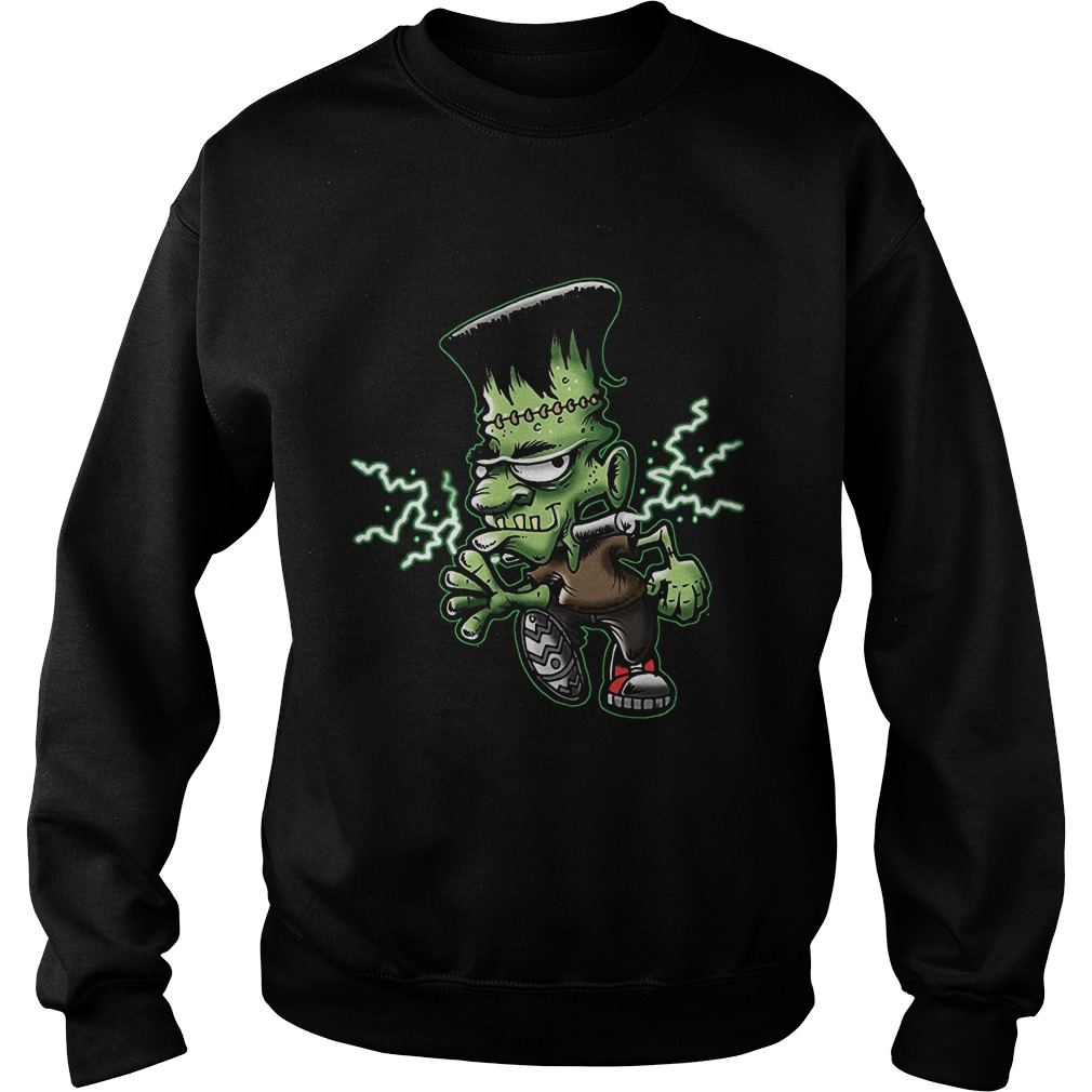 Halloween Frankie Monster Cartoon Sweat Shirt