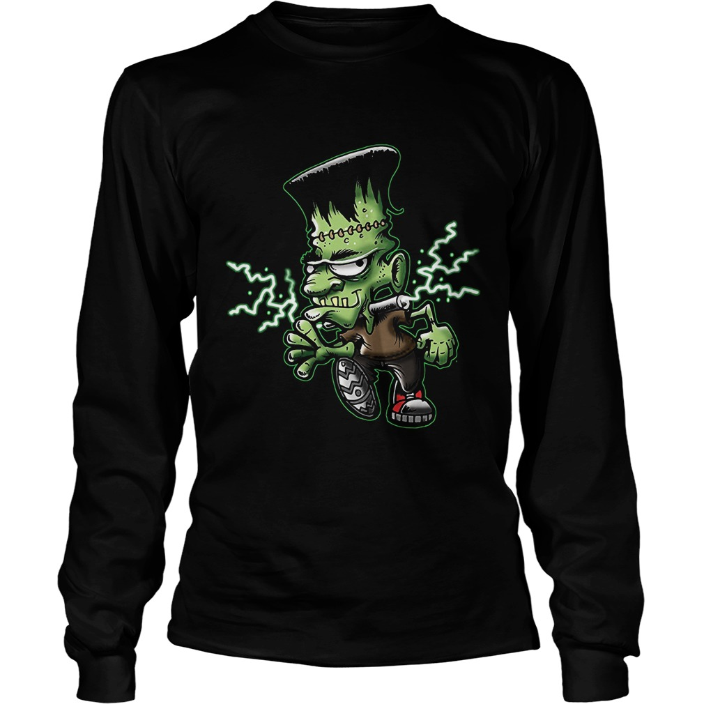 Halloween Frankie Monster Cartoon Unisex Longsleeve
