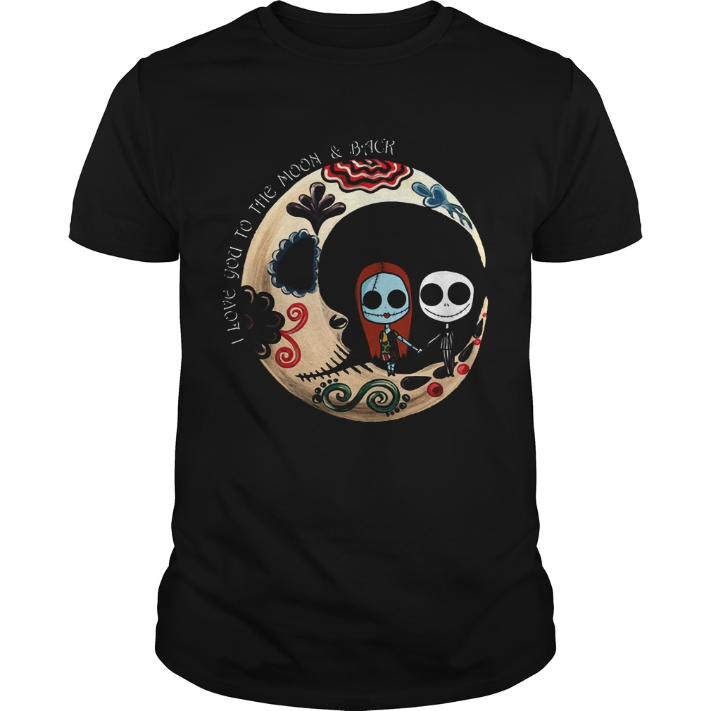 Halloween I Love You To The Moon And Back Guys Tee
