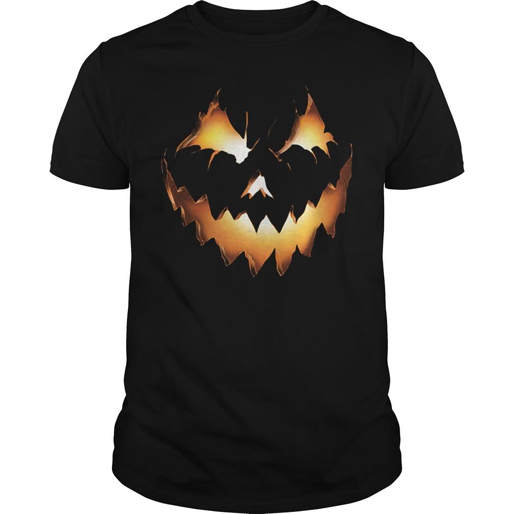 Halloween Pumpkin Jack O Lantern Guys Tee