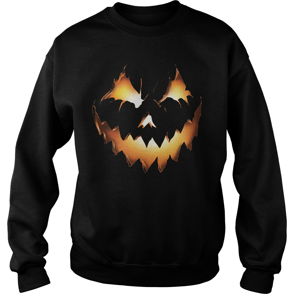 Halloween Pumpkin Jack O Lantern Sweat Shirt