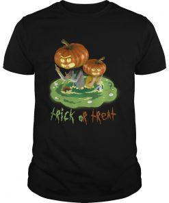 Halloween Trick Or Treat Rick And Mortys Guys Tee