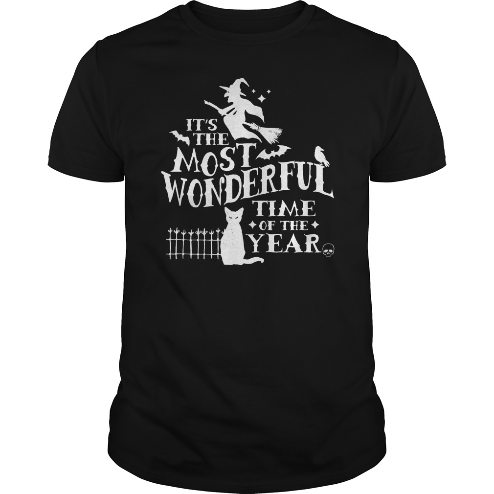 Halloween Wonderful Time Year Guys Tee