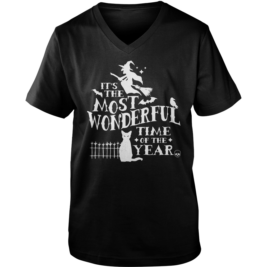 Halloween Wonderful Time Year V Neck