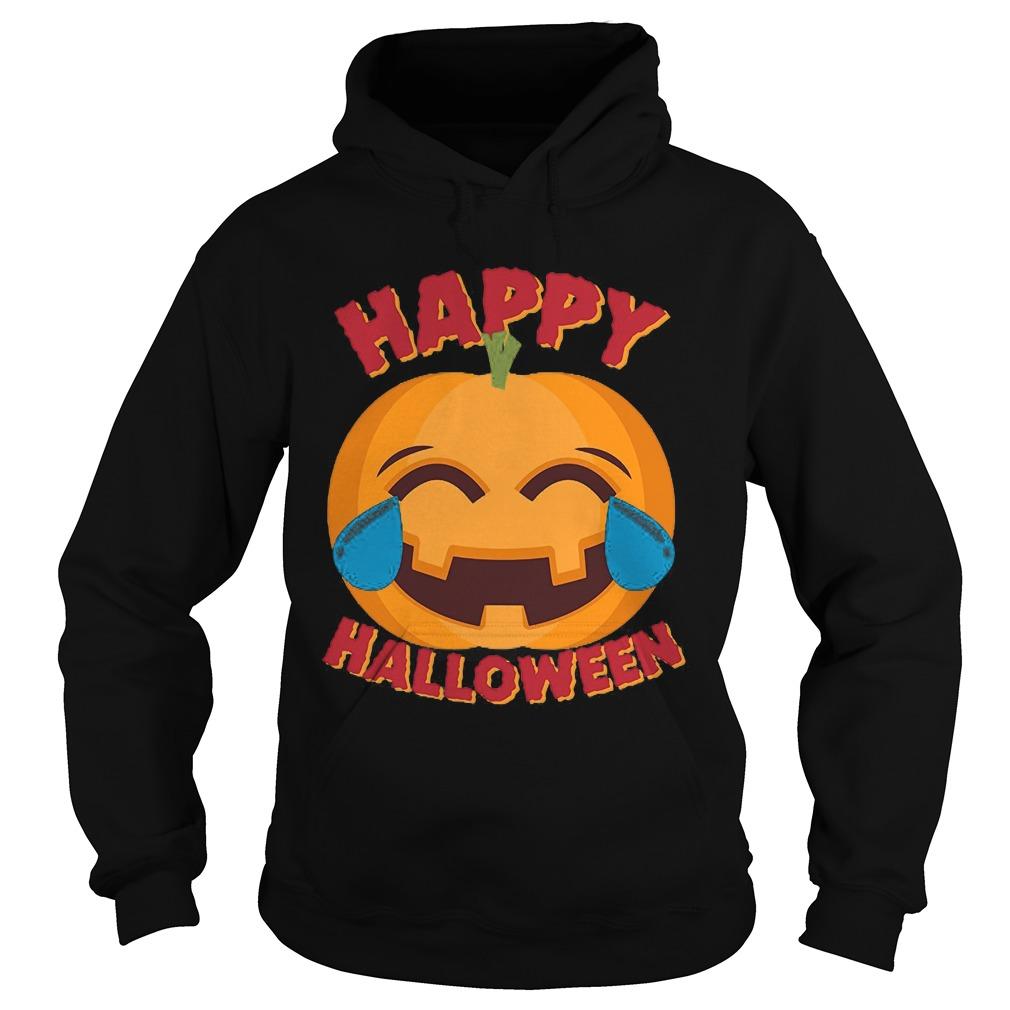 Happy Halloween Emoji Pumpkin Hoodie
